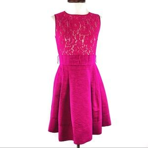 Eliza J Fuchsia Magenta Pink Lace Dress